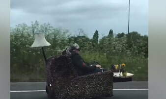 Hitman - Driving a Couch Down the Street!