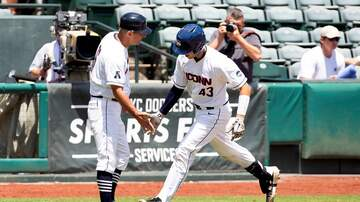 Baseball - UConn Baseball staves off elimination, beats Harvard 10-2