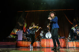 The Lumineers Performance Pics on the Main Stage at our 12th Birthday Show