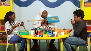 DJ Shante - DaBaby Freestyles And Does Arts And Crafts With Kids