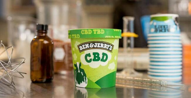 BEn and Jerry's CBD infused ice cream