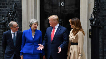 Politics - Trump's Visit to the U.K. Continues With Meeting With Theresa May