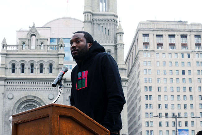 Meek Mill & Michael Rubin Speak In Philadelphia
