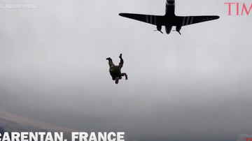 JB - ***VIDEO*** Normandy Paratrooper Jumps Again