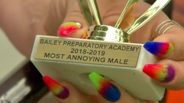 Beth Bradley - Parents outraged after son with autism was given 'most annoying' award.