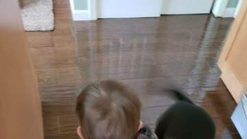 Leigh Ann and Jeremy - Howling competition between toddler and his Best Friend  (His Dog!)