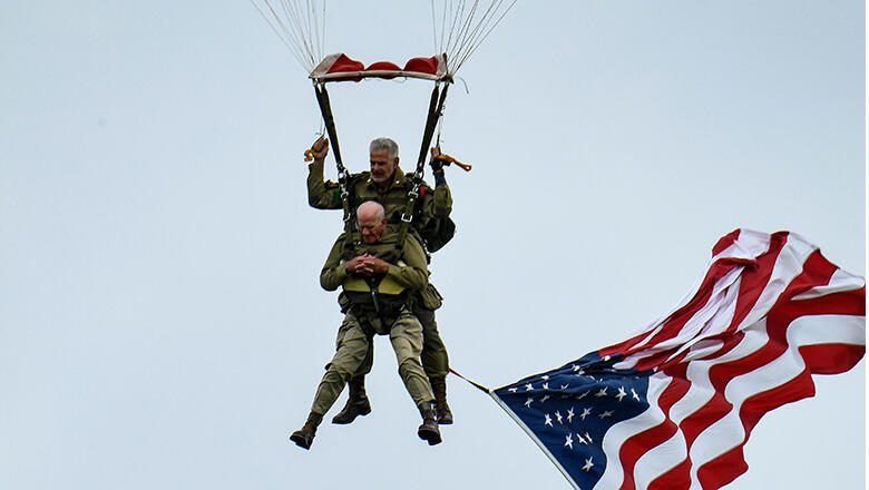 97-Year-Old WWII Veteran Parachutes Into Normandy To Celebrate D-Day