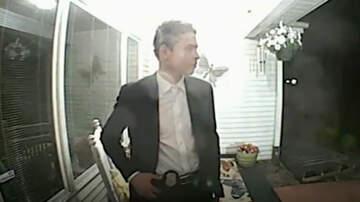 Weird News - Doorbell Camera Captures Man Impersonating Police Officer