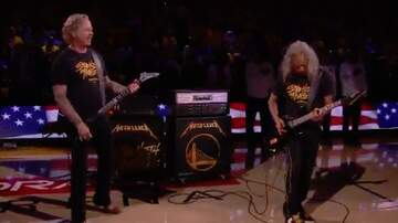 Laura KBPI - Metallica played the National Anthem before Game 3 of the NBA Finals