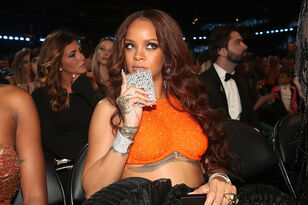 Rihanna Promoting Beauty Line With Chris Brown's Music in The Background