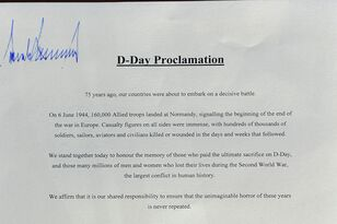 Just for fun: Trump signed top of D-Day Proclamation