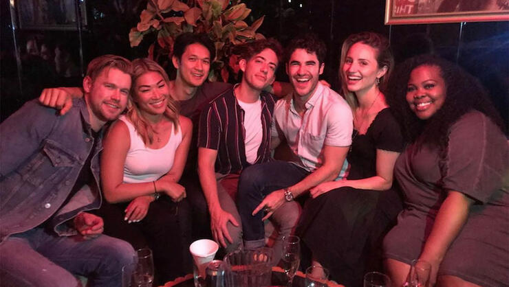 Glee' Cast Reunites To Perform 'Shallow' At Los Angeles