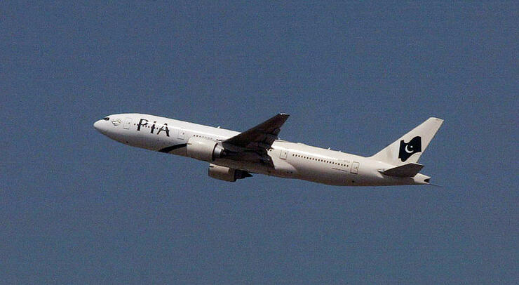 A Pakistan International Airlines plane,