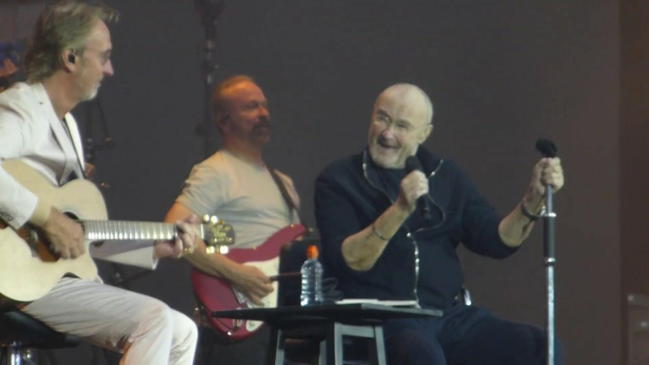 """See Phil Collins, Mike Rutherford Perform Genesis' """"Follow You, Follow Me"""""""