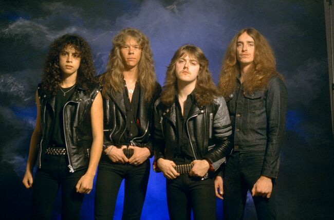 Photo of Cliff BURTON and METALLICA and Kirk HAMMETT and James HETFIELD and Lars ULRICH
