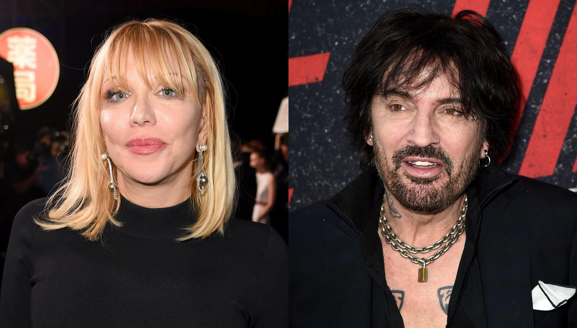 """Tommy Lee Fires Back As Courtney Love Calls Out """"Vile"""" Mötley Crüe Biopic"""