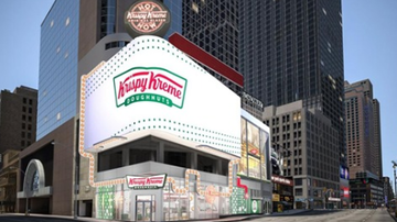 The KiddChris Show - Krispy Kreme in New York will have stadium-style seats and  glaze waterfall