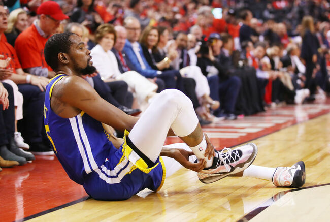 2019 NBA Finals - Game Five Kevin Durant goes down with injury.