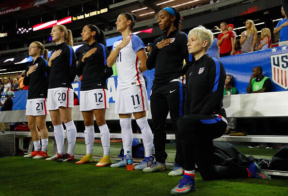Facebook Blows Up Over US Women's Soccer Star's National Anthem Protest