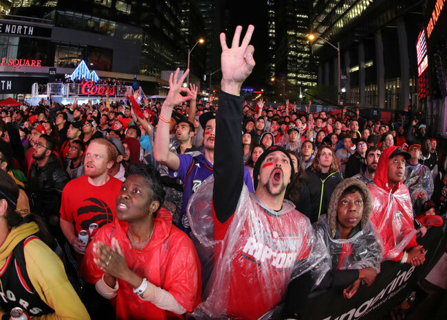 Toronto Fans Crowd 'Jurassic Park' To Watch The Raptors Play For The NBA Championship