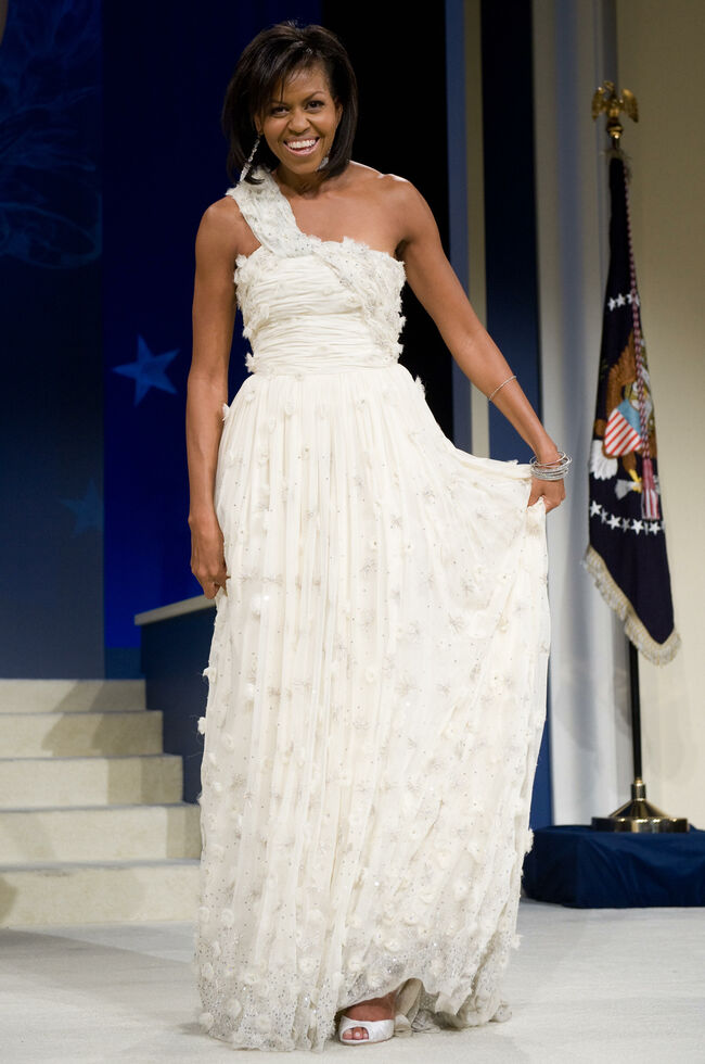 First Lady Michelle Obama poses during t