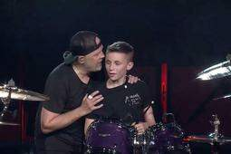 Hooker, DB and Becka - Evan got his birthday wish..Jamming on stage with Metallica!!