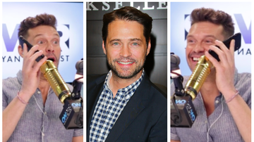 Ryan Seacrest - Ryan Seacrest Attempts to Call '90210' Alum Jason Priestley and LOL