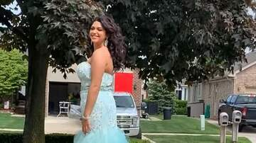 Lindsey Marie - Dad Takes Daughter's Prom Pics To The Next Level...With a Leaf Blower