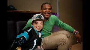 Dino - These kids' Make A Wish was to meet Cam Newton,and he made their day 🙏
