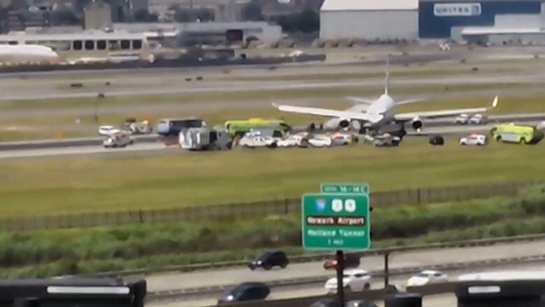 United Airlines Plane Skids Off The Runway At Newark Airport