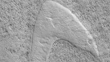 National News - NASA's Mars Reconnaissance Orbiter Spots Star Trek Inspired Logo