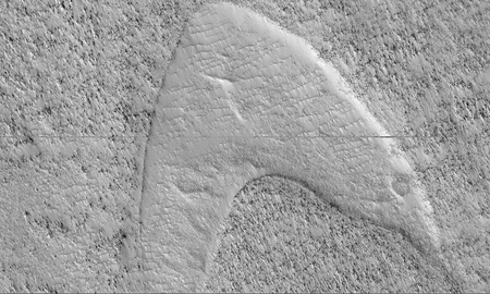 Weird, Odd and Bizarre News - NASA's Mars Reconnaissance Orbiter Spots Star Trek Inspired Logo