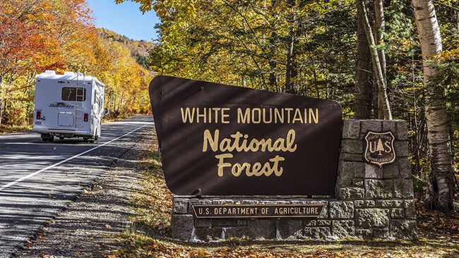 Autumn tourism in White Mountain National Forest