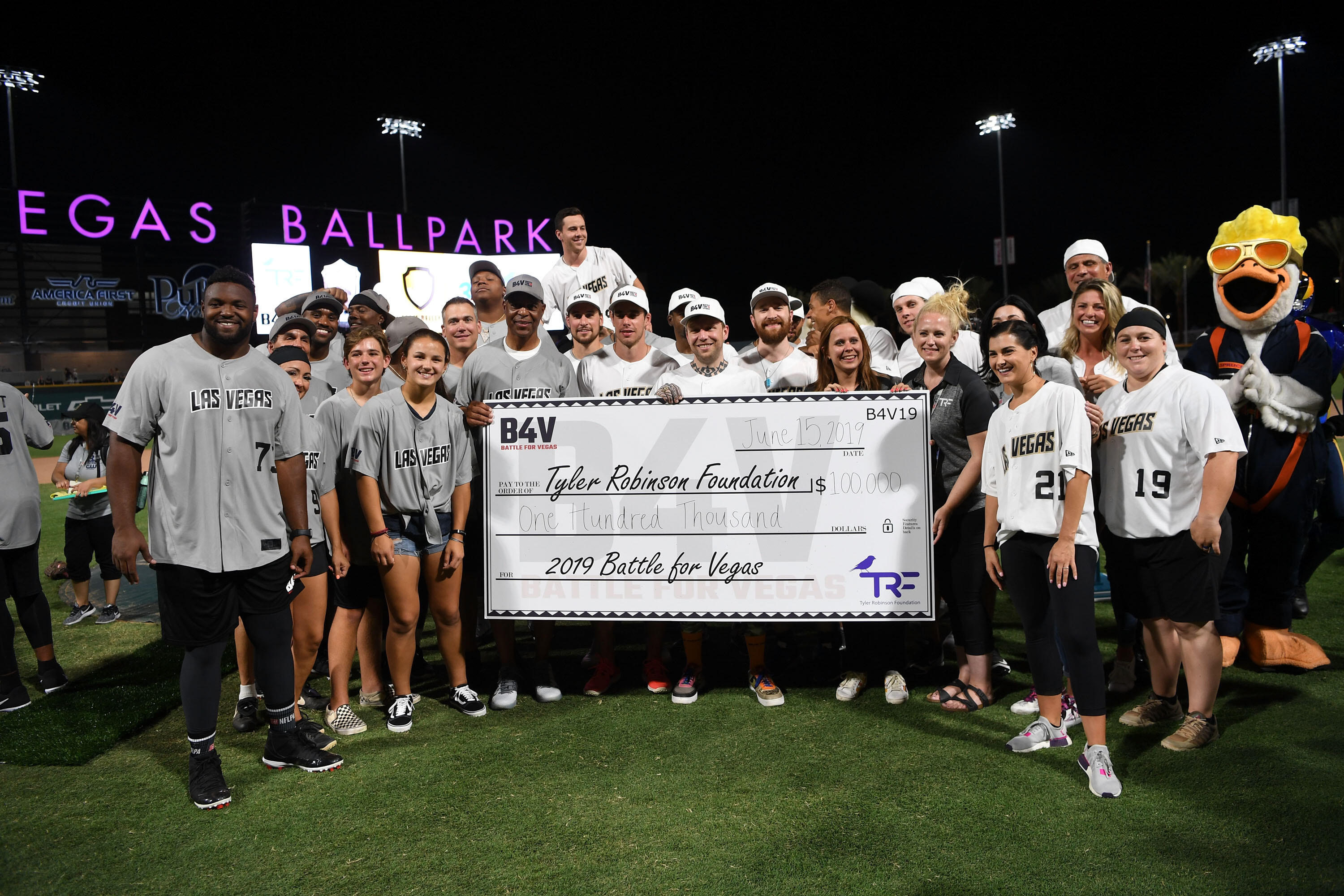 PHOTOS: Battle For Vegas Charity Softball Game Hosted By Reilly Smith