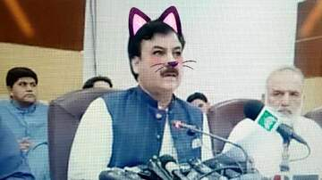 None - Politician Accidentally has 'Cat Filter' on During Live Stream of Speech