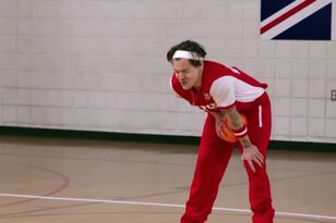 Harry Styles Gets Hit In Groin By A Dodgeball Thrown By Michelle Obama