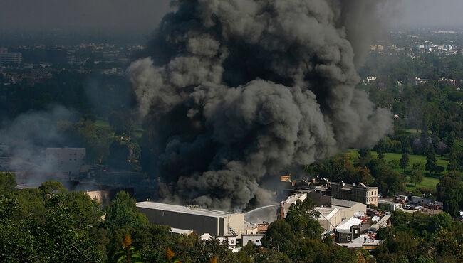 Firefighters Battle Blaze At Universal Studios