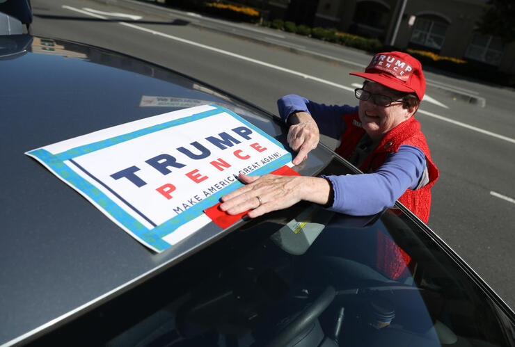 Pro-Trump Activists Rally In Support Of The President's Re-Election Bid