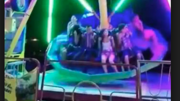 Qui West - Young Girl Survives Falls From A Ride In A Town Fair!