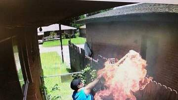 Trevor D in the Morning Show - Woman Is Caught Setting Neighbor's House on Fire by Own Security Cameras