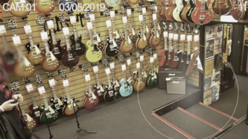 Weird, Odd and Bizarre News - Haunted Guitar Store Posts Chilling Footage Of Ghost