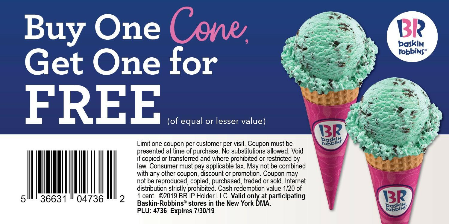 It is an image of Monster Baskin Robbins Printable Coupons 2020