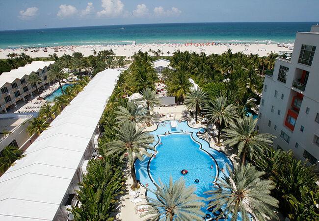 Around The Raleigh Hotel At Mercedes-Benz Fashion Week Swim Miami