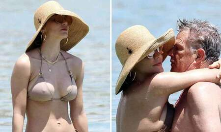 The Gunner Page - Katharine McPhee (35) Rocks a Tiny Bikini for Fiancee David Foster (69)