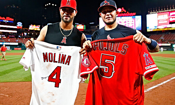 Albert Pujols was greeted with a very emotional welcome back to his former team the Cardinals.