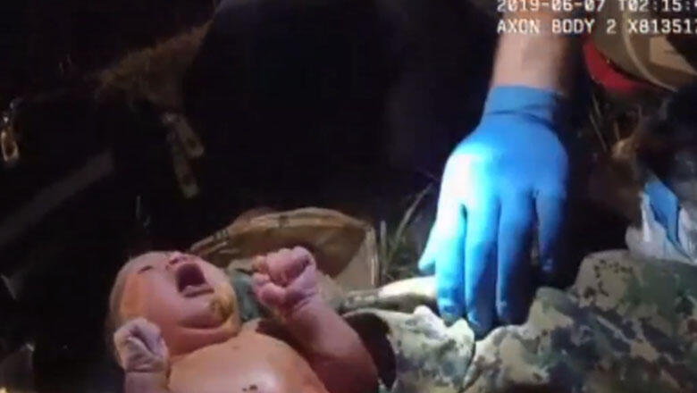 Video Shows Officer Rescuing Newborn Baby From Plastic Bag