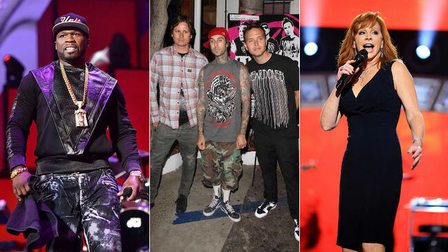 Blink-182, 50 Cent, Reba McEntire Among Artists Affected By