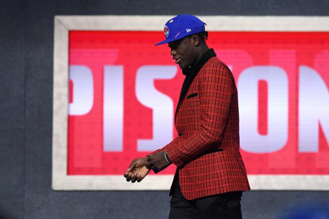 Getty - Sekou Doumbouya selected during the 2019 NBA Draft