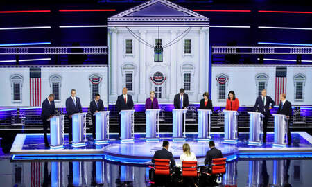 National News - Democrats Hold First Debate of 2020 Presidential Campaign in Miami