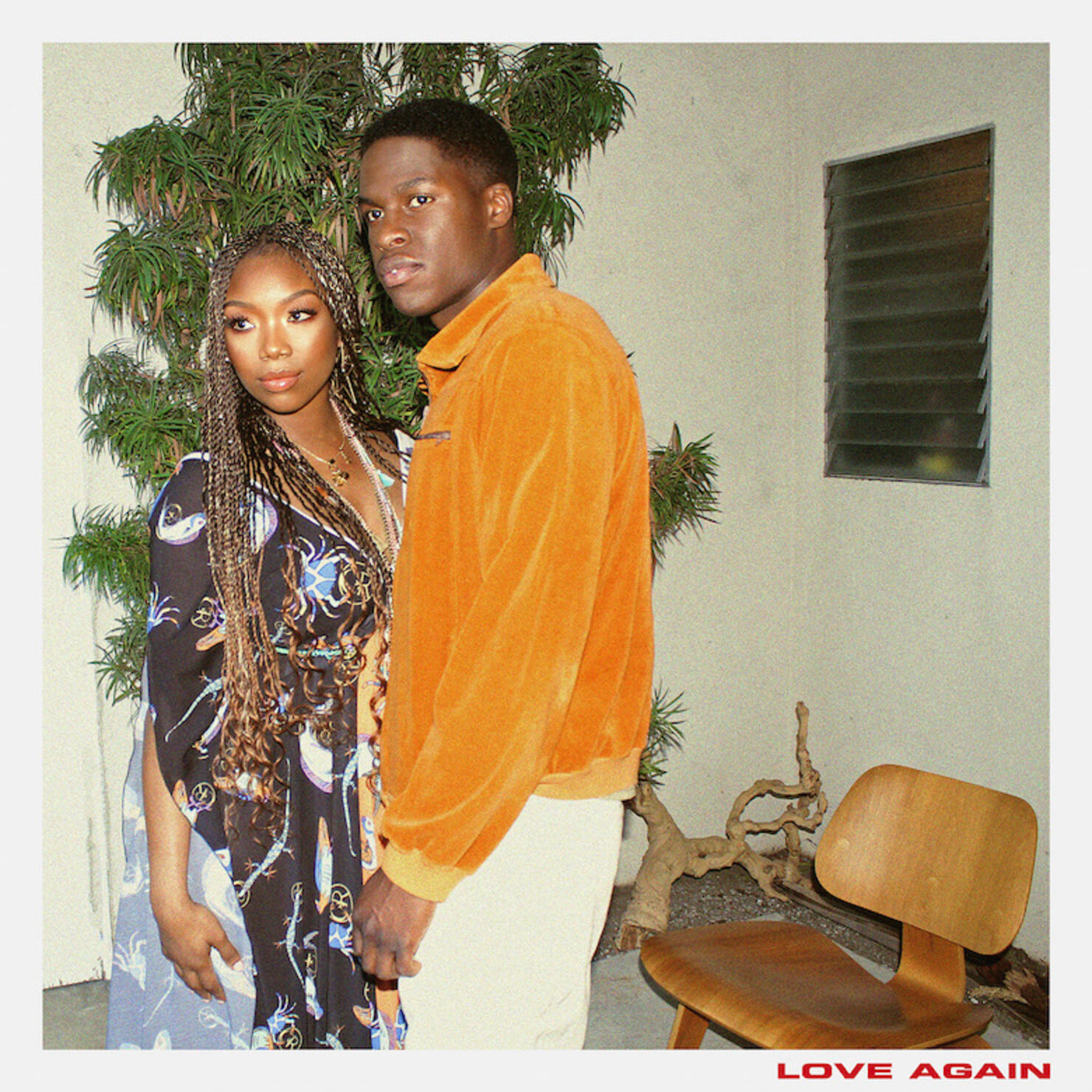 "Brandy & Daniel Caesar - ""Love Me"" Single Artwork"